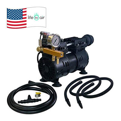 Aeration Kit Aqua 36w Piston Compressor Weighted Hose Self Weighted Diffusers