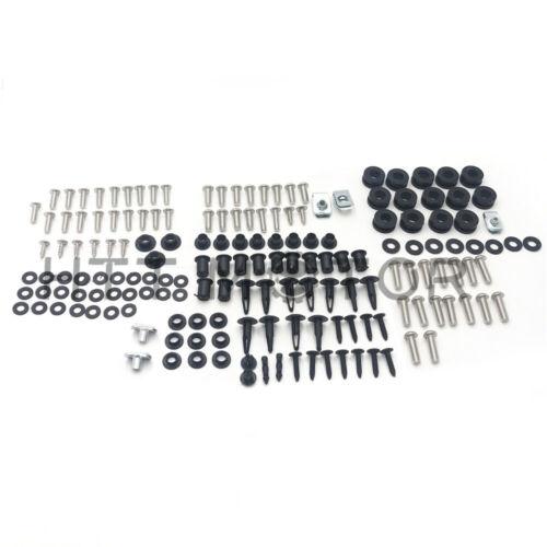 For Honda CBR600RR 03-04 Complete Stainless Steel Body Screw Fairing Bolt Kit US