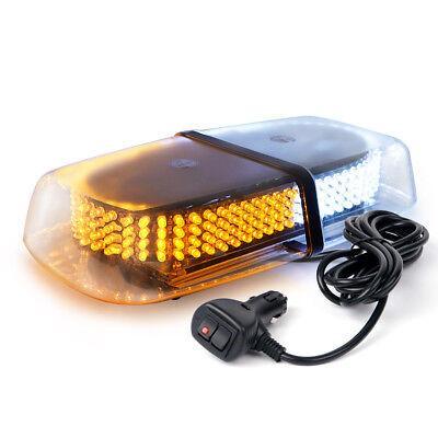 240 LED Mini Roof Top Emergency Safety Warning Flash Strobe Light WHITE Amber ()