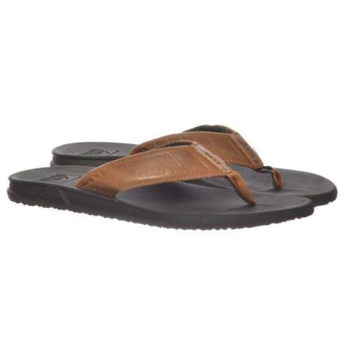 d493914598f9 Mens Reef Phantom Le Ultimate Flat Flip Flops Brown   Dark Brown New Size