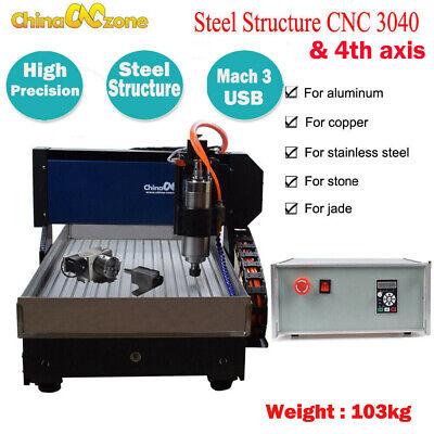 Cnc 3040z-dq 4axis Router Engraving Cutting Machine Usb Mach 3 Cnc Diy Machine