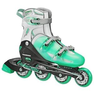 NEW Roller Derby Women's V-Tech 500 Button Adjustable Inline Skate, Mint, Size 6-9