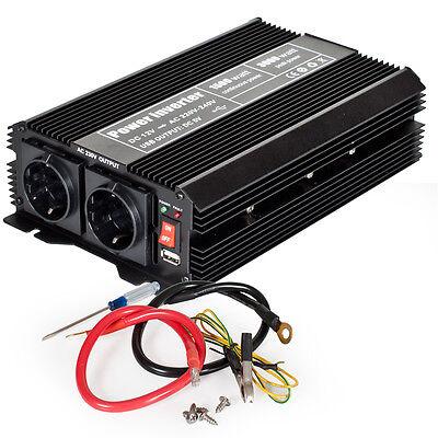 Spannungswandler Inverter 12V auf 230V 1500 3000 W Watt Wechselrichter NEU