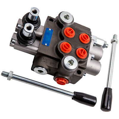 2 Spool Hydraulic Directional Control Valve 11gpm Double Acting Cylinder 40lmin