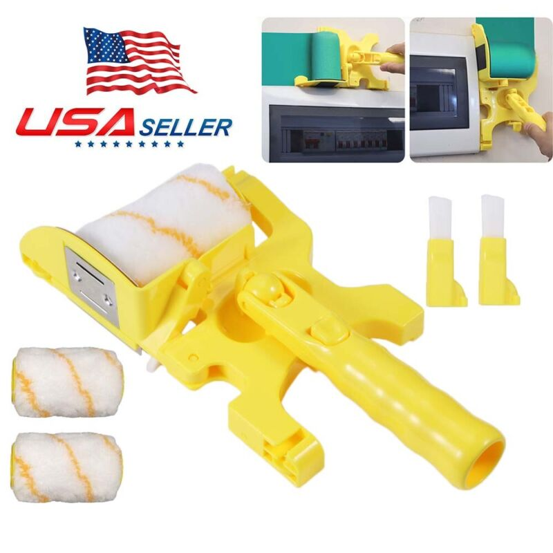 2021 Clean-Cut Paint Edger Roller Brush Safe Tool For Home Room Wall Ceiling USA