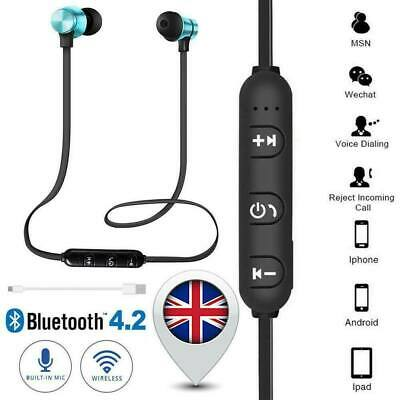 Bluetooth Earphones Wireless Headset Handsfree Headphones for Samsung iPhone UK