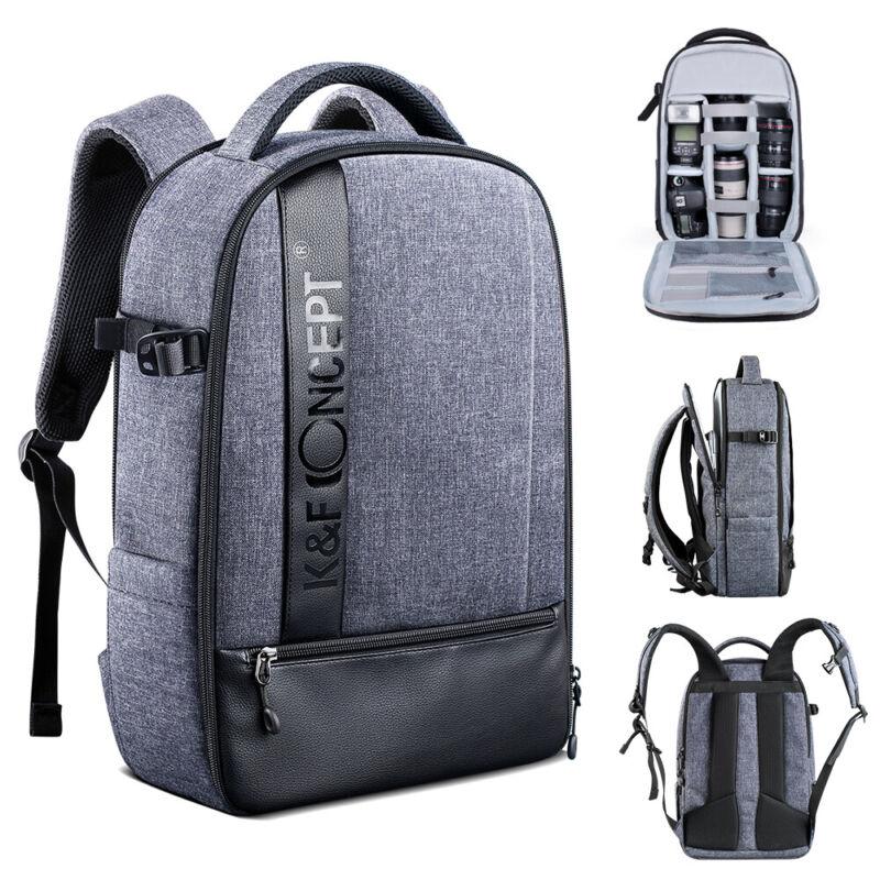 Large Camera Backpack Bag Laptop Waterproof for Canon DSLR SLR Camera K&FConcept