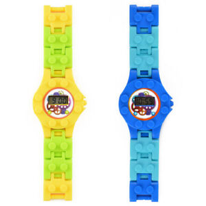 Time Teacher LCD Watch Children Girl Boys Gift For kids LEGO COMPATIBLE