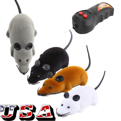 Wireless Remote Control RC Electronic Rat Mouse Mice Toy For Cat Puppy Xmas Gift ()