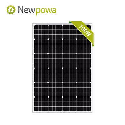 Newpowa 100W 100 Watt Mono-crystalline Solar Panel 12V Campi