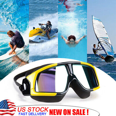 Swimming Goggles Glasses Water Pool UV Anti Fog Underwater Mask Adult Men (Water Sports Goggles)