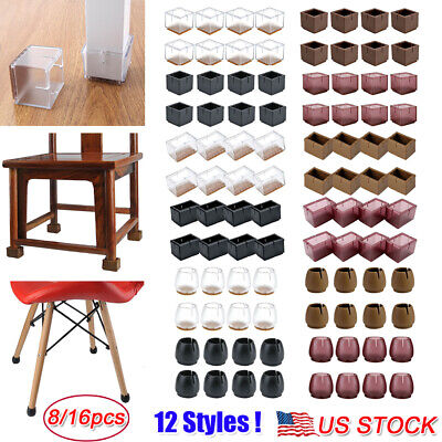 Chair Leg Pads (8/16pcs Silicone Chair Leg Caps Feet Pads Furniture Table Covers Floor Protector )