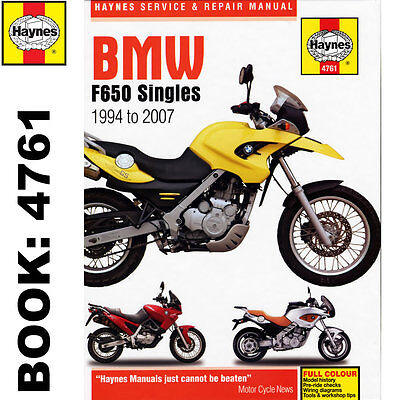 BMW F650 Funduro Dakar Strada Singles 1994-2007 Haynes Workshop Manual