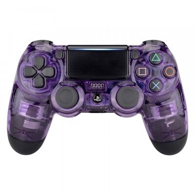 Clear Purple Top Housing Shell Replacement Mod For PS4 Slim Pro Game - Clear Purple Housing
