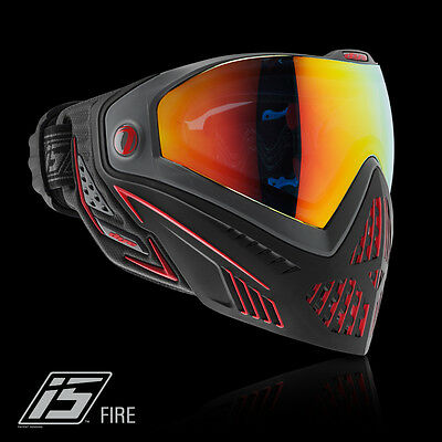 Dye I5 Pro FIRE black red Thermalmaske Paintball Airsoft Softair Goggle (Dye Maske)