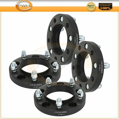 "1"" thick 5x150 14x1.5 studs black 4 pcs wheel spacers for Toyota Tundra  Sequoia"
