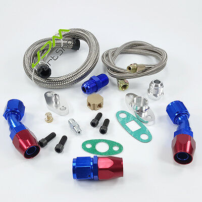 Turbo Repair Kit Oil Feed Return Line Oil Drain Lines T3 T4 T3/T4 T70 T66 TO4E