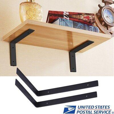 1 Pair Wall Mounted Shelf Storage Shelves Bracket L Shaped Support Heavy Duty