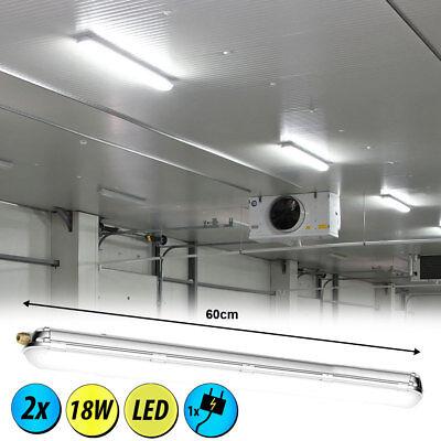 2x LED Decken Lampen Industrie Röhren Nass Raum Wannen Leuchten Keller Röhren