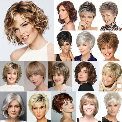 Damen Perücke Natürliche Kurz Haarperücke Hellblond Gelockt Perücke - Natürliche Blonde Perücke