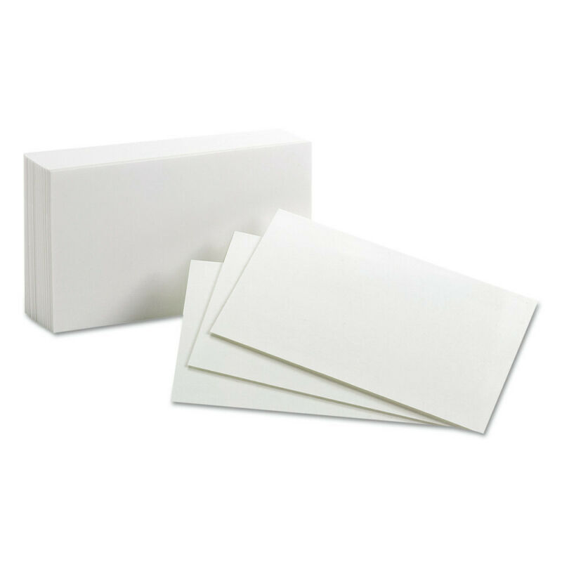 Oxford 30 100-Pc. 3 in. x 5 in. Unruled Index Cards (White) New