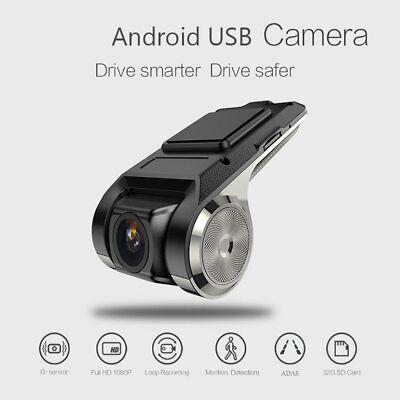 1080P FHD Car DVR Camera Video Recorder GPS 170° ADAS G-sensor Dash Cam USB