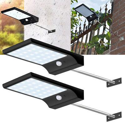 2er Solarlampe 48 LED Solar Licht Bewegungsmelder Außen Gartenlicht Wandleuchte