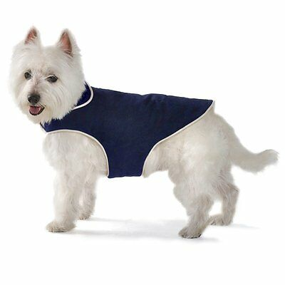 Dog Gone Smart Jacket with Ecru Piping for Dogs, 32-Inch, Navy Dog Gone Smart Jacket