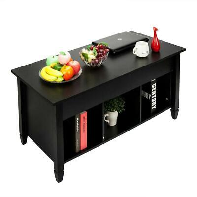 Lift-up Top Coffee Table w/Hidden Storage Compartment & Shelf Black 8