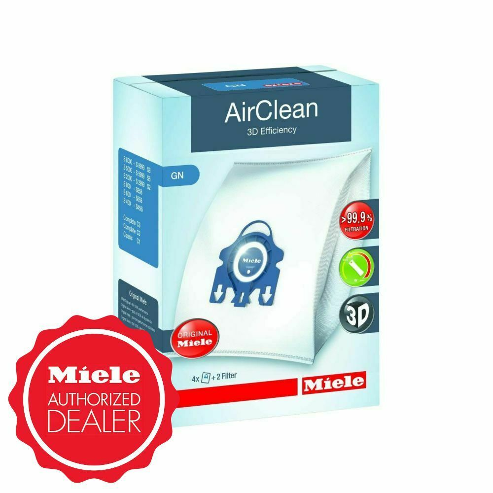 Miele GN Vacuum Cleaner Bags 4 Bags 2 Filters Blue Collar