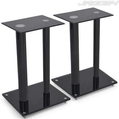 2 Glas Lautsprecher Ständer Lautsprecher Boxen Podest Sockel Säule 61 cm Stativ