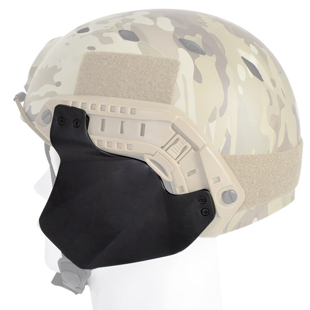 Rubber Side Protector Ear Covers For Airsoft Painball Tactic Fast Rail Helmet FG