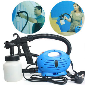 Paint Sprayer Electric Zoom Spray Gun System Painting Fence Bricks Outdoor Using