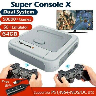 Super Console X Retro Mini WiFi 4K HDMI TV Video Game Console For PS1/N64/DC NEW