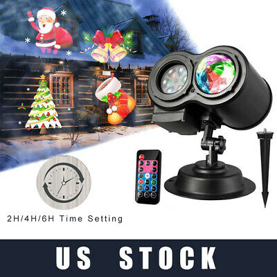 LED Projector Christmas Moving Laser Projection Light For Xmas Party Waterproof ()