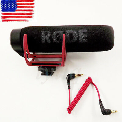 NEW Rode Videomic GO On Camera Shoe Mount Shotgun Rycote Lyre Onboard Microphone