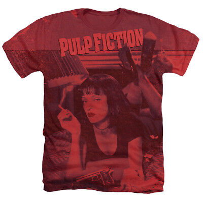 PULP FICTION MIA POSTER Licensed Sublimation Men's Graphic Tee Shirt SM-3XL