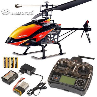 RC Single Blade Heli 4Kanal WL V913 MT400 RTF 2,4Ghz Helikopter Hubschrauber inc ()