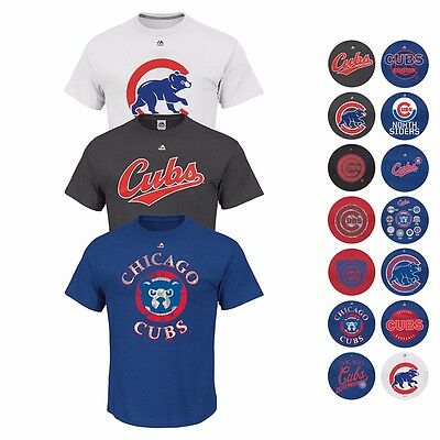 Chicago Cubs Mlb Assortment Of Graphic T Shirt Collection By Majestic   Mens