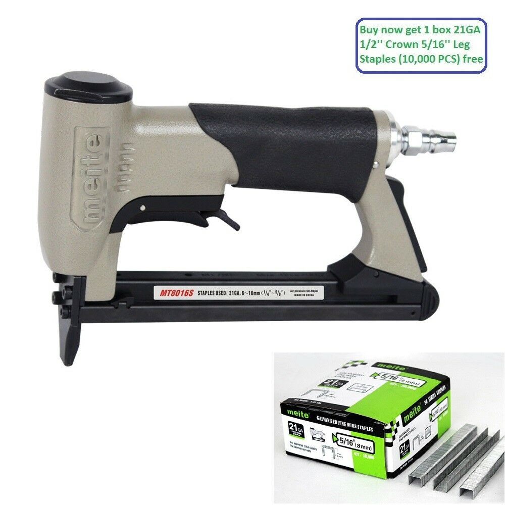 "meite MT8016S 21GA 1/2"" Crown Upholstery Stapler with Safety"