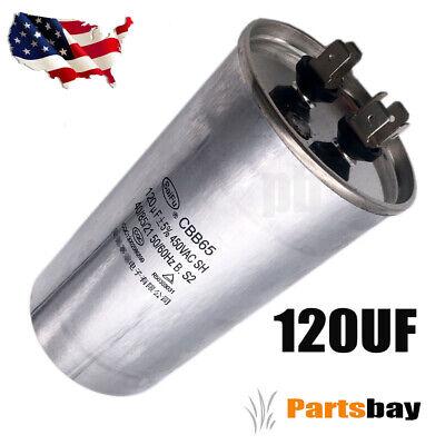 Motor Run Capacitor 250VAC 250V AC 120uF 120 MFD P0//S0 UL listed W//Fixing Stud