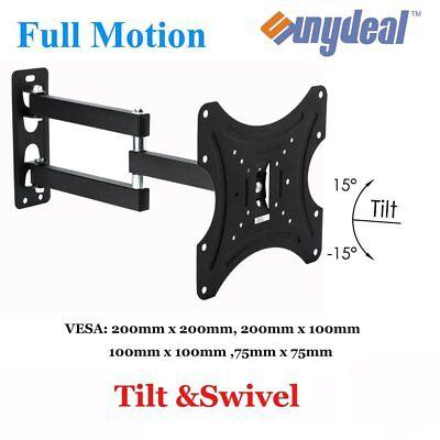 VESA 100x100 200X200mm Full Motion TV Wall Mount Fixed Bracket LCD Monitor TFT ()