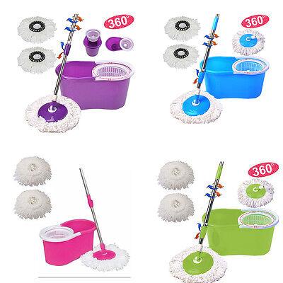 360  Microfiber Spinning Magic Rotating Head Easy Cleaning Floor Mop Bucket Set