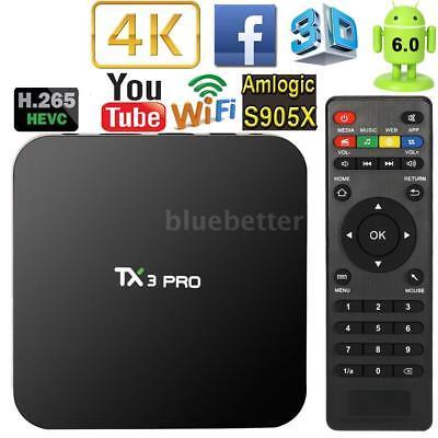 TX3 PRO New Android 6.0 S905X Quad Core Smart TV Box 4K WIFI Stream Media Player