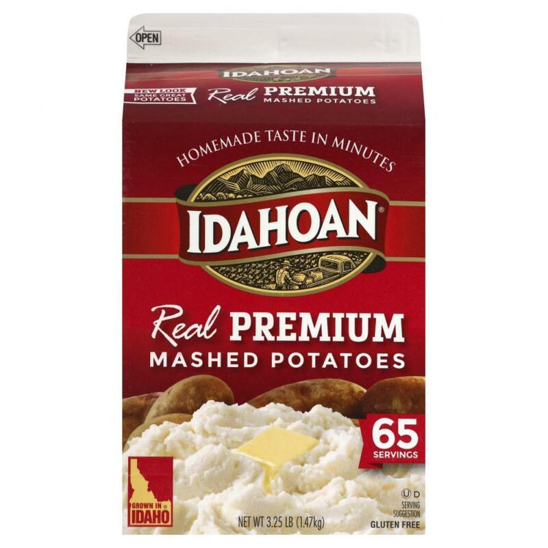 Idahoan Real Premium Mashed Potatoes, Made with Gluten-Free 3.25 Pound
