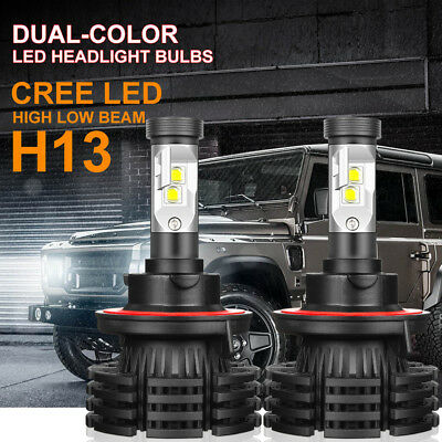 H13 9008 Cree Led Headlight Conversion Kit 1200W 180000Lm Hi Low Beam Bulb 6000K