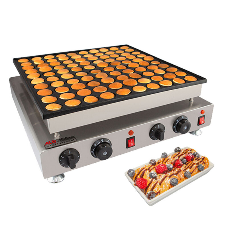 Poffertjes Maker | 100 Dutch Mini Pancakes | Poffertjes Baking Machine | Single