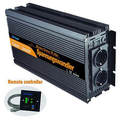 1500/3000 Watt Reiner SINUS Wechselrichter 24V 230V Spannungswandler