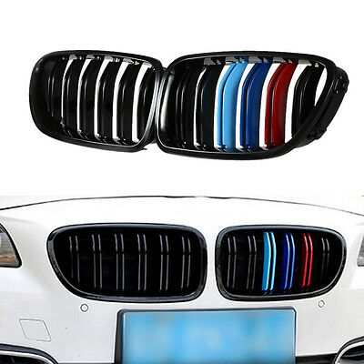 Mix Grill - Kidney Grill Racing Grille Mix Color Double line for BMW F10 F11 F18 5 Series M5