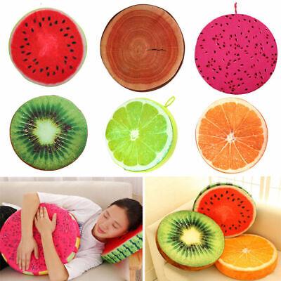 Office-sofa (Creative Bedroom Office Sofa Decor Plush Fruit Throws Pillow Round Seat Cushion)